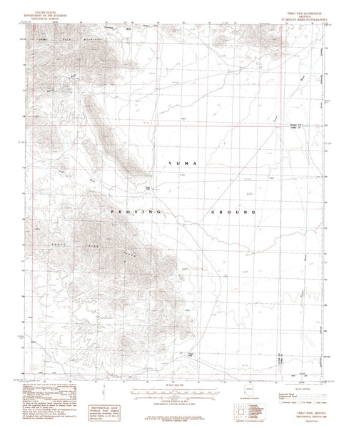 us topo - TRIGO PASS, Arizona 7.5' - Wide World Maps & MORE! - Map - Wide World Maps & MORE! - Wide World Maps & MORE!