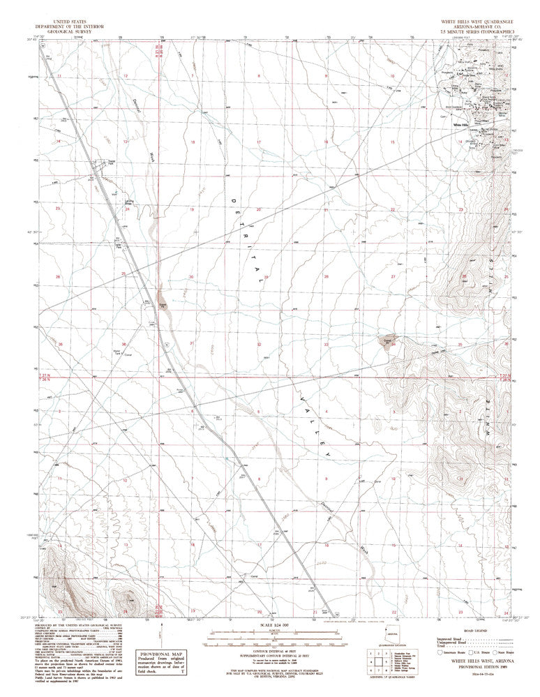 us topo - WHITE HILLS WEST, Arizona 7.5' - Wide World Maps & MORE! - Map - Wide World Maps & MORE! - Wide World Maps & MORE!