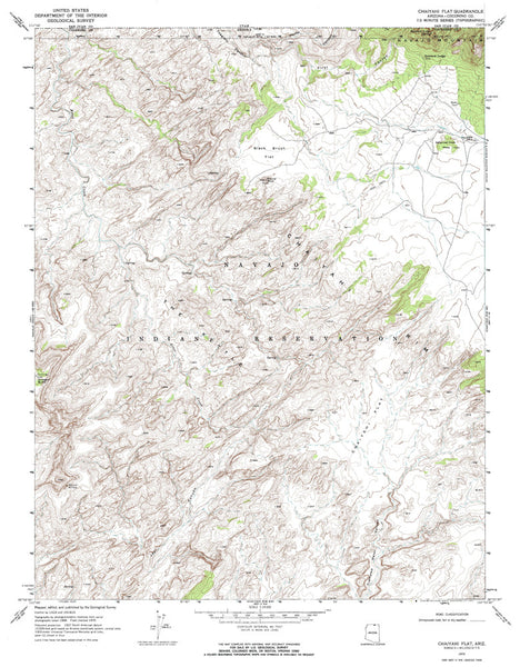 us topo - CHAIYAHI FLAT, Arizona 7.5' - Wide World Maps & MORE! - Map - Wide World Maps & MORE! - Wide World Maps & MORE!