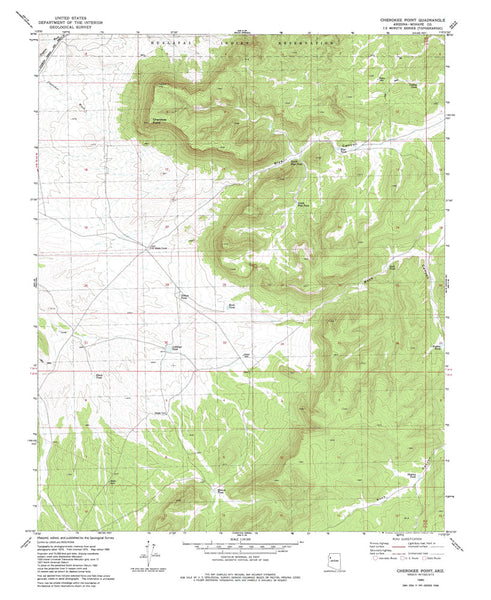 us topo - CHEROKEE POINT, Arizona 7.5' - Wide World Maps & MORE! - Map - Wide World Maps & MORE! - Wide World Maps & MORE!