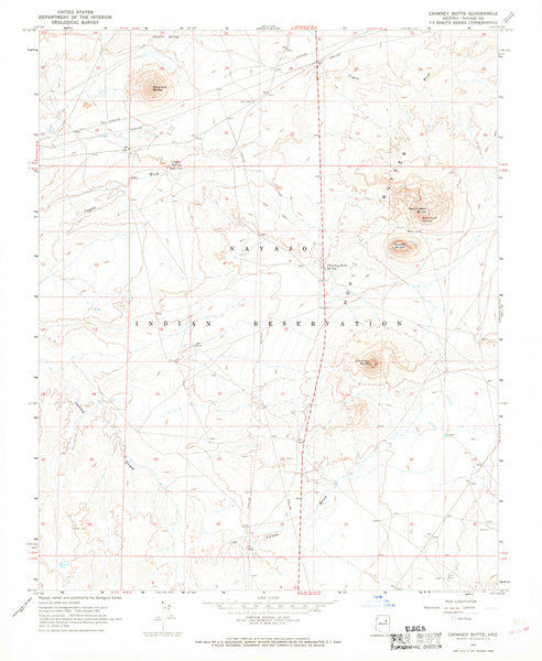 CHIMNEY BUTTE, Arizona (7.5'×7.5' Topographic Quadrangle)