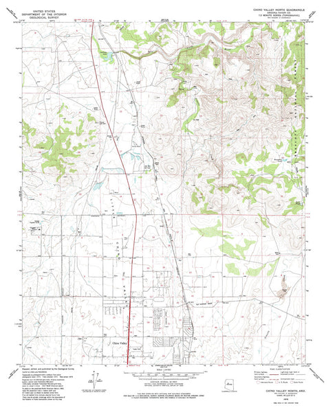 us topo - CHINO VALLEY NORTH, Arizona 7.5' - Wide World Maps & MORE! - Map - Wide World Maps & MORE! - Wide World Maps & MORE!