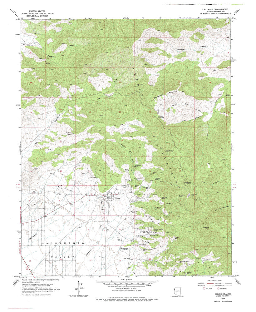 us topo - CHLORIDE, Arizona 7.5' - Wide World Maps & MORE! - Map - Wide World Maps & MORE! - Wide World Maps & MORE!