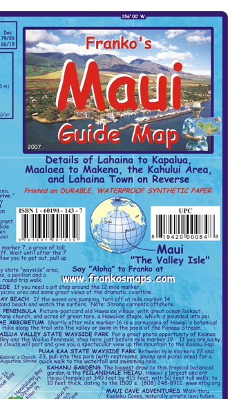 Franko's Maui Guide Map - Wide World Maps & MORE! - Map - Franko Maps - Wide World Maps & MORE!