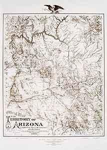 Official Map of the Territory of Arizona 1880 Ready-to-Hang