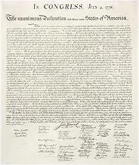Declaration of Independence: Handwritten Edition -- Satin Laminated - Wide World Maps & MORE!