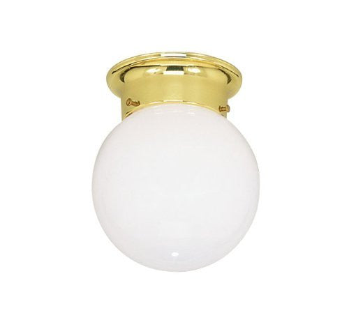 Livex Lighting 7004-02 Flush Mount with Opal Glass Shades, Polished Brass