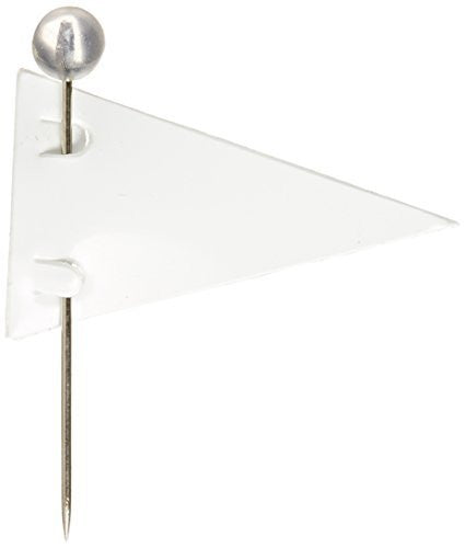 Moore Push-Pin White Pennant Map Flags (P-603)