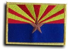 us topo - Arizona - State Rectangular Patch - Wide World Maps & MORE! - Lawn & Patio - Flagline - Wide World Maps & MORE!