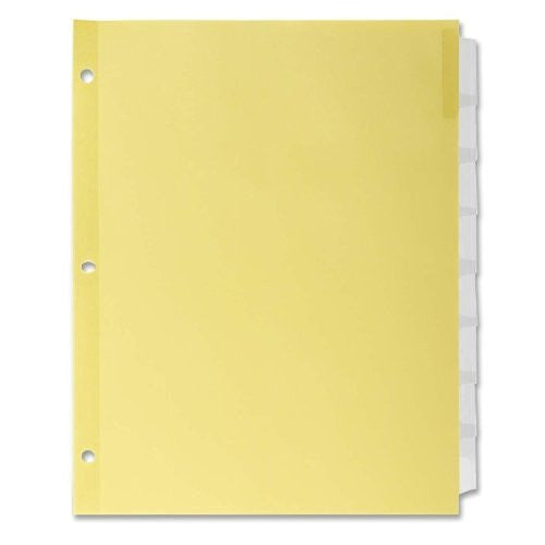 Ring-Book Indexes - Tab Color Clear, #Of Tabs 8,Stock 1.29