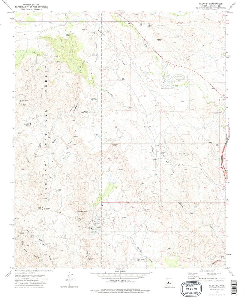 Cleator, Arizona 7.5' (US Topo 7.5'x7.5' Quadrangle)