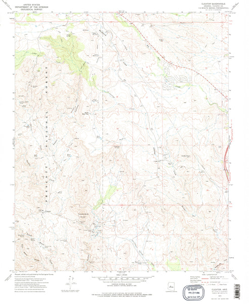 Cleator, Arizona (7.5'×7.5' Topographic Quadrangle)
