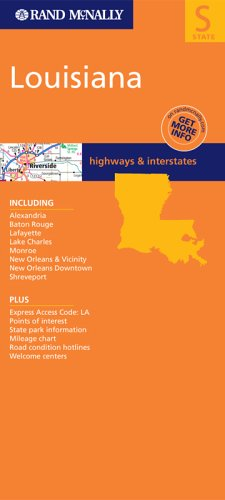 Rand McNally Louisiana: Highways & Interstates (Rand McNally Folded Map: States) - Wide World Maps & MORE! - Book - Rand McNally - Wide World Maps & MORE!