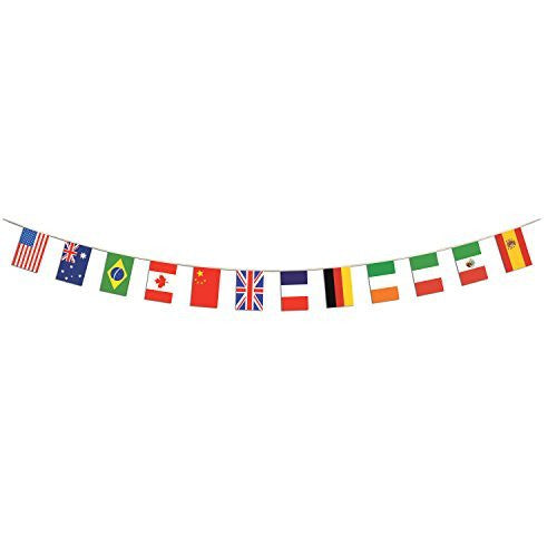 Beistle Company Mens International Flag Banner