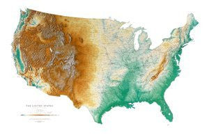 us topo - United States Topographic Wall Map by Raven Maps, Laminated Print - Wide World Maps & MORE! - Home - Raven Maps - Wide World Maps & MORE!