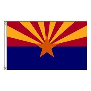 us topo - Annin Flagmakers 140248WE 12 in. X 18 in. Nyl-Glo Arizona Flag - Wide World Maps & MORE! - Home - Annin - Wide World Maps & MORE!