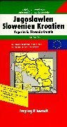 Slovenia, Croatia, Yugoslavia, Bosnia Road Map (Europa)