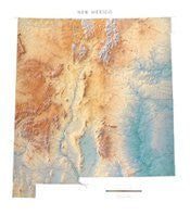 New Mexico Topographic Wall Map by Raven Maps, Laminated Print