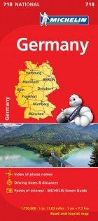 Germany Road and Tourist Map (National Road and Tourist Map)