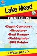 Lake Mead Arizon/Nevada Fishing Map (L901)