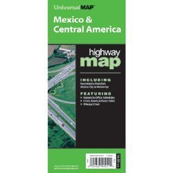 Mexico/Central America (World Political & International Highway Fold Maps)