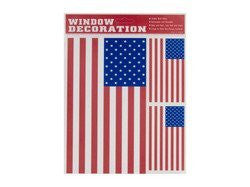 us topo - USA American Flag - Static Cling - Peel and Place Window Decorations - Wide World Maps & MORE! - Single Detail Page Misc - Window Decoration - Wide World Maps & MORE!