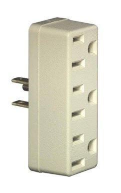 Leviton C22-00697-00w White Triple Tap Plug-In Outlet Adapters