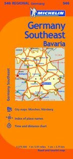 Germany Southeast (Bavaria) Road and Tourist Map (Germany Regional)