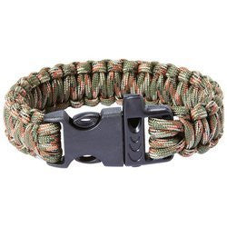 Maxam 9 Paracord Bracelet with Whistle Buckle