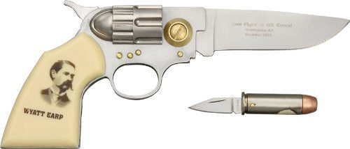 1 X Wyatt Earp Gun and Bullet Knife Set: Frontier Enthusiast's Collectible