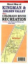 Street Map of Kingman & Golden Valley plus Colorado River Recreation