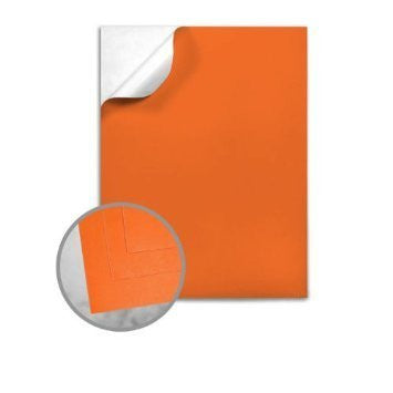 Colorcode 60# Orange Vellum Offset - 8 1/2 x 11 Full Sheet 10.1 mils 100 per Package