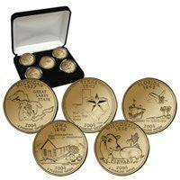 2004 24K Gold Plated State Quarters