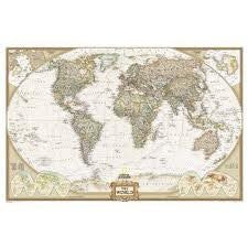 World Executive Polictical Wall Map (Enlarged Size & Tubed World Map) Publisher: Natl Geographic Society Maps