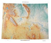 Wyoming Topographic Wall Map by Raven Maps, Print on Paper (Non-Laminated)