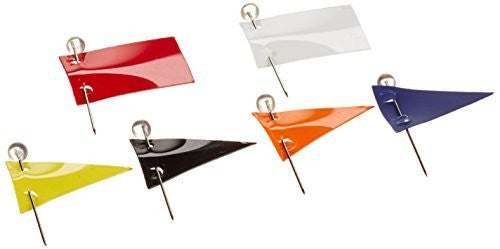 Moore Push-Pin Assorted Color Map Flags (600A)