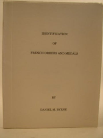 Identification of French Orders and Medals