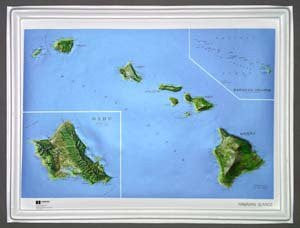 American Educational Products K-Hi2217 Hawaii Ncr Series Map