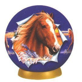 Unicorn Horse Boy Puzzle Ball (60 Piece), One Color