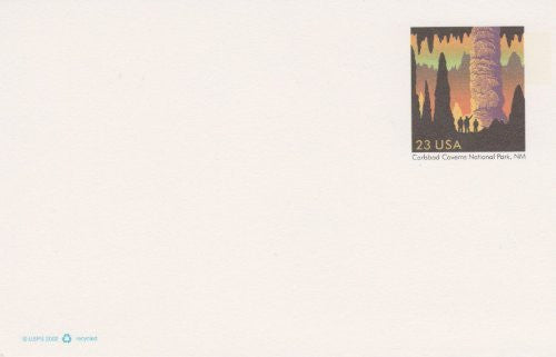 us topo - 2002 23 Cent Printed Postage Carlsbad Caverns Postcard - Wide World Maps & MORE! - Toy - USPS - Wide World Maps & MORE!