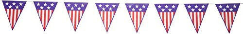 Patriotic Spirit of America Pennant Banner 10in. X 12ft