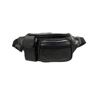 us topo - Black Leather Fanny Pack - Wide World Maps & MORE! - Sports - Alpaca - Wide World Maps & MORE!