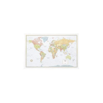 "Rand Mcnally Company World Laminated Map, 50""X32"""