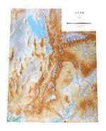 Utah Topographic Wall Map by Raven Maps, Laminated Print