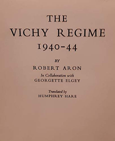 The Vichy Regime, 1940-44