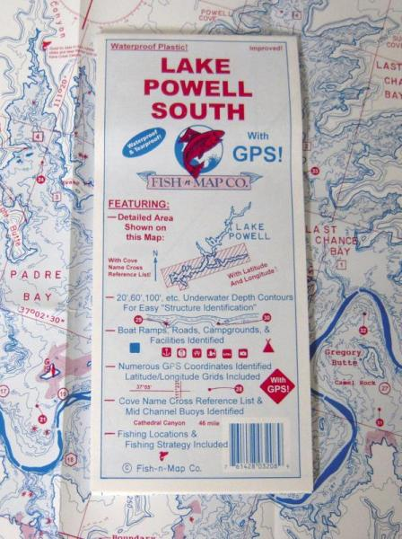 Lake Powell South - Wide World Maps & MORE! - Map - Fish-N-Map - Wide World Maps & MORE!