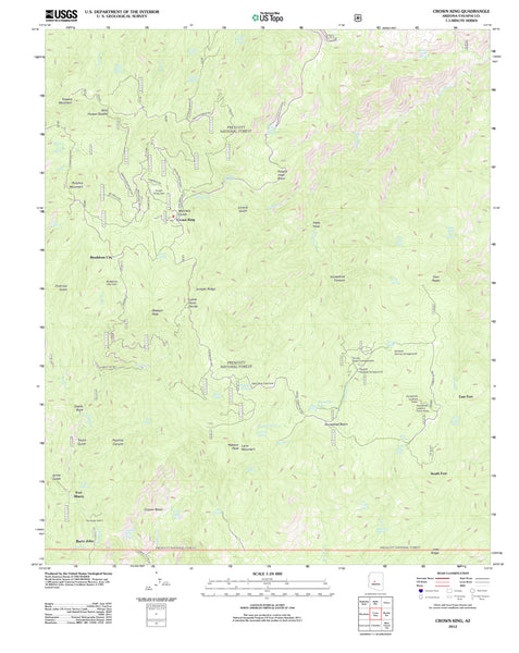 Crown King, Arizona (US Topo 7.5'×7.5' Quadrangle) - Wide World Maps & MORE! - Map - Wide World Maps & MORE! - Wide World Maps & MORE!