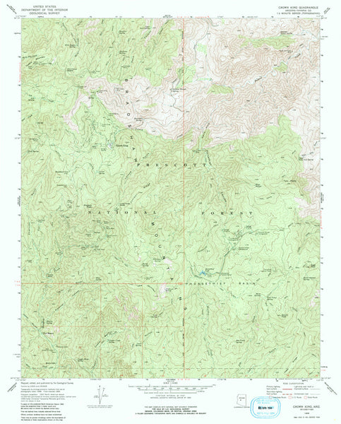 Crown King, Arizona (7.5'×7.5' Topographic Quadrangle)