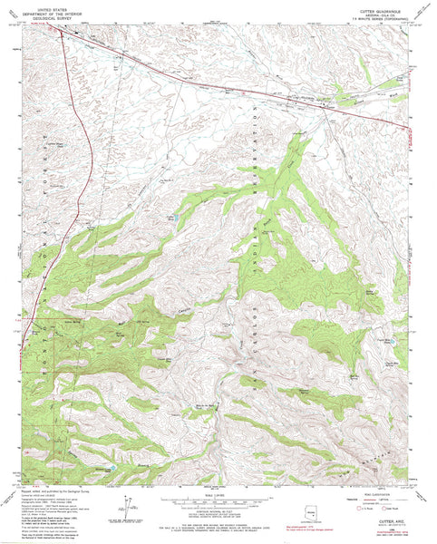 us topo - CUTTER, Arizona 7.5' - Wide World Maps & MORE! - Map - Wide World Maps & MORE! - Wide World Maps & MORE!