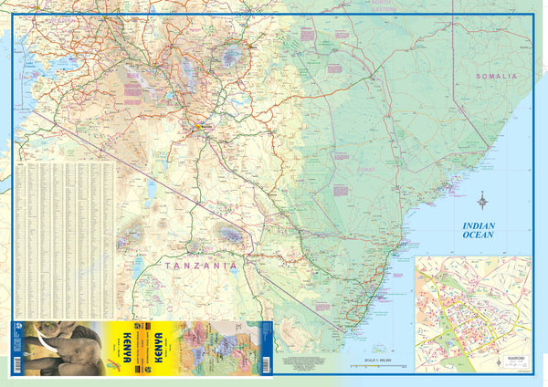 Waterproof Kenya Map by ITMB (International Travel Maps)